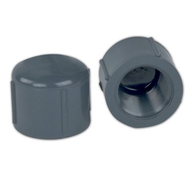 1/2inch Schedule 80 Gray PVC Threaded (80 Pvc Threaded Cap)
