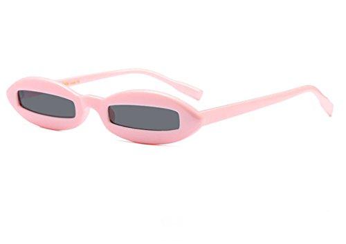 Gris Drôle Ovale Cadre Design Eyewear Lunettes Mode UV400 de Petites Rose Soleil Femmes Xa07Hqn