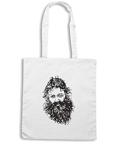 BEARD FUN0266 Speed Shopper MAN Shirt Borsa Bianca wTCHXRqC