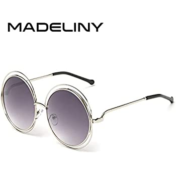 42af680d3dd Kasuki Newest Fashion Carlina Round Wire-Frame Sunglasses 2016 New Vintage  Fashion Sun Glasses Women - (Lenses Color  C4Silvergradientgrey)