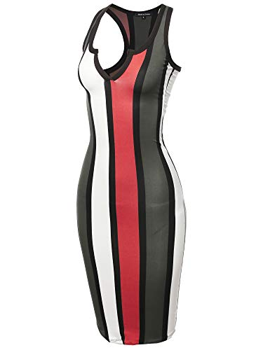 Sexy Solid Split Neck line Front Bodycon Midi Dress Ivory Coral S