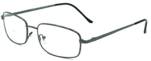 In Style Eyes Enda Middle Bifocal Reading Glasses Look Smart and Give You Flexibilty/pewter/2.50