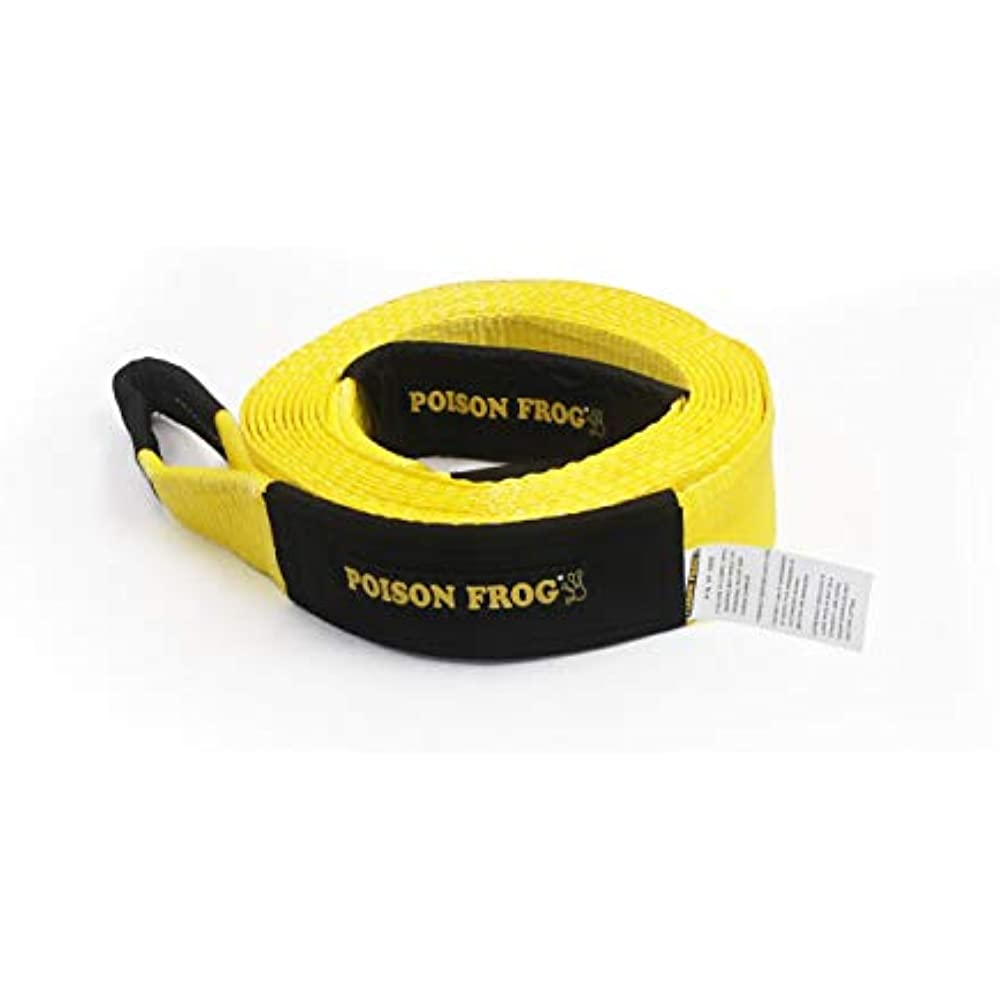 3 X 30/' Tow Strap Hangzhou Jiye Technology Co Poison Frog PF3920 30000Lbs 3 X 30 Heavy Duty Tow Strap Jeep and SUV Jeep and SUV Off-Road Towing and Recovery Rope for Truck Ltd. 3 X 30 Tow Strap