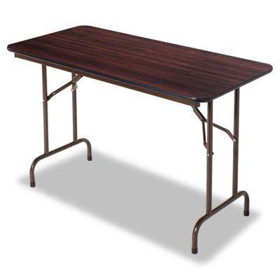 Alera FT724824WA Wood Folding Table, Rectangular, 48w x 24d x 29h, Walnut