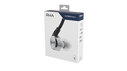 RHA MA750 Wireless: Noise Isolating Bluetooth In-Ear Headphones with Universal Remote & Microphone 12 Hour Battery Life by RHA (Image #6)