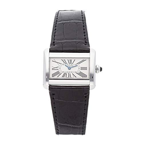 - Cartier Tank Divan Quartz (Battery) Silver Dial Womens Watch W6300255 (Certified Pre-Owned)