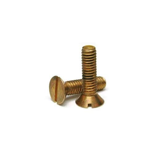 6-32 X 1//2 Slotted Flat Machine Screw Silicon Bronze Package Qty 100