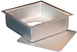 3 Square Baking Pan (Fat Daddio's Anodized Aluminum Square Cheesecake Pan with Removable Bottom, 9 Inch x 9 Inch x 3 Inch)
