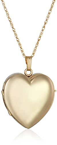 4 Photo Heart Locket (14k Gold-Filled Heart-Shaped Four-Picture Locket Necklace, 20