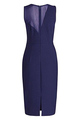 next Mujer Vestido Ajustado Panel Malla Regular Ropa Azul Marino