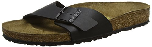 Birkenstock MADRID Ladies Buckle Mule Sandals Black MADRID 42 (Sandals Buckle Mule)