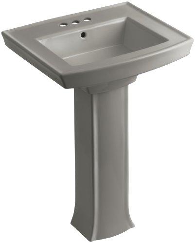 KOHLER K-2359-4-K4 Archer Pedestal Bathroom Sink with 4
