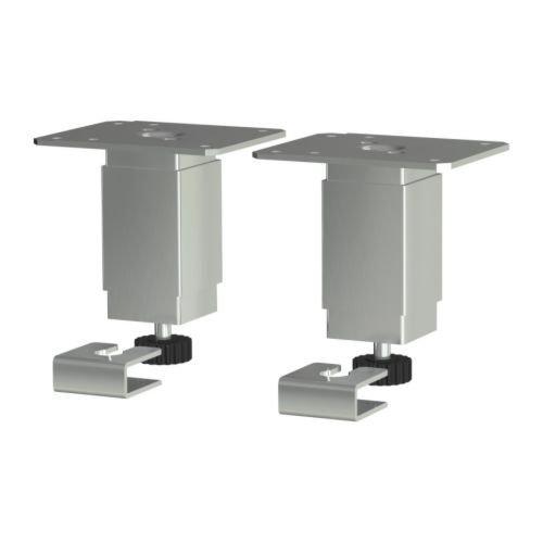IKEA UTBY Kitchen Table Leg 4'' Adjustable steel Anchor 2 pack