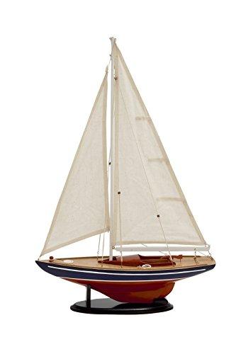 Deco 79 Attractive Miniature Wood Sailing -