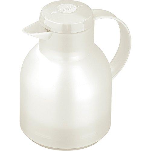 (Emsa Samba, Quick Press, Vacuum Insulated Thermal Carafe, 34 oz, Translucent)