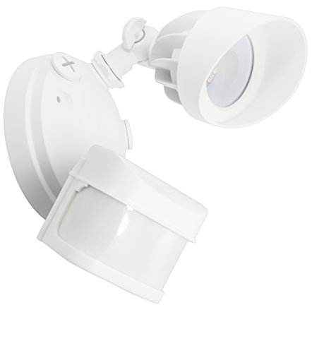 American Lighting LED Panorama Sentry Single Security Flood Light with PIR Motion Sensor, White