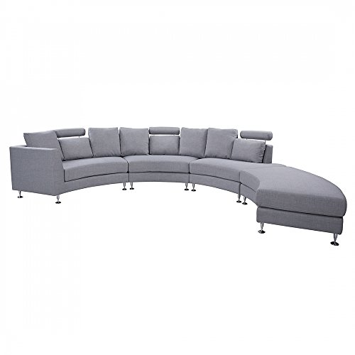 Beliani 11508 Rotunde Round Modern Sectional Upholstered Sofa, (Modern Round Sectional)