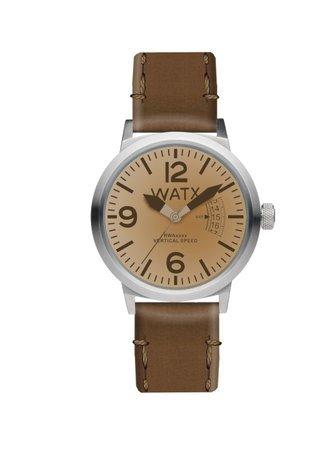 5db3fd0e555d Watx Vertical Speed Reloj para Mujer Analógico de Cuarzo con Brazalete de  Piel de Vaca RWA0242  Amazon.es  Relojes