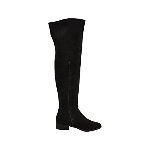 Bamboo Play 17M Womens Thigh High Zipper Accented Boot Black 7mmOSxXIbt