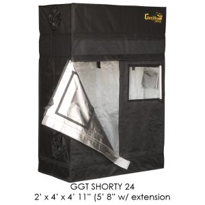 Gorilla Grow Tent Shorty 2' x 4' x 4' 11'' (Adjustable Height- 4'11'' to 5'8x2033;)