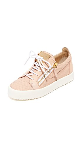 Giuseppe Zanotti Women's Embossed Low Top Sneakers, Rosa, 36 IT