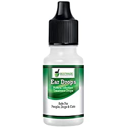 Ear Drops By BestMade   Natural Infection Treatment Drops   Safe For People, Dogs & Cats   Helps With Hearing, Otalgia, Otitis Externa, Ear Mites, Wax, Yeast, Itching & Unpleasant Odors