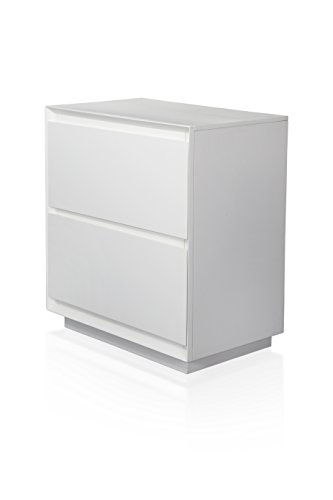 HOMES: Inside + Out Iohomes Zeden Modern White 2-Drawer Nightstand Review