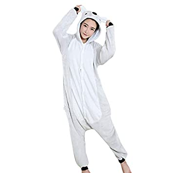 DUKUNKUN Pijamas De Adultos Koala Pijamas Traje De Terciopelo Gris ...
