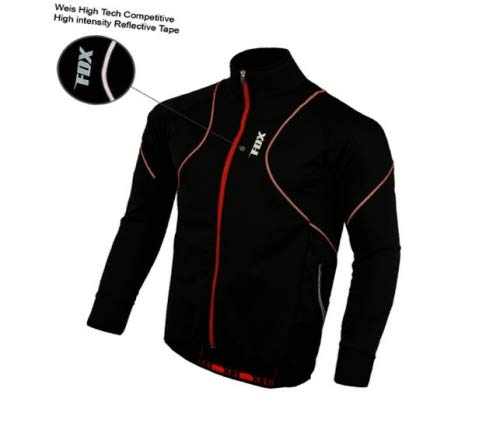 FDX Mens Performance Cycling Jacket Wind stopper Thermal Winter Running Hi...