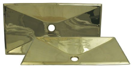 Copperhaus Rectangular Bathroom Sink (Polished Brass) by Whitehaus