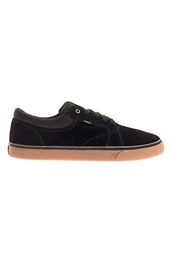 ELEMENT - Zapatillas de skateboarding de Piel para hombre negro Black/gum