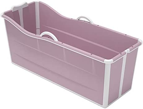 全身大厚みのバスタブシャワー洗面器、浴槽家庭用プラスチック子供用浴槽バレル/家庭用折りたたみ式浴槽/ポータブル折りたたみ式浴槽大人/青/ピンク,D