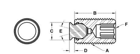 Fairlane MTBU-20050-DC Threaded Design Swivot Delrin Cone M20 x 2.5 x 50 mm