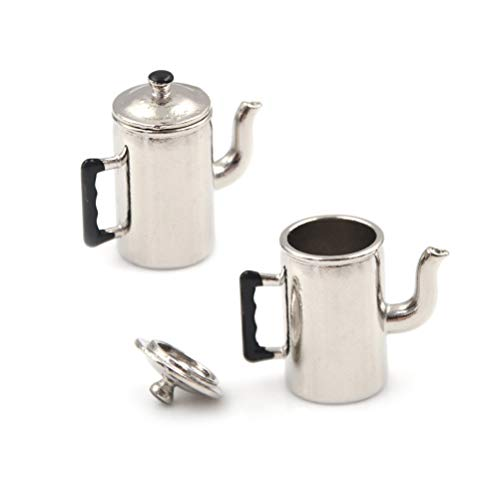 Miniature Metal Boiling Water Kettle 1/12 Dollhouse Toy Kitchen Furniture Toy - Furniture 707