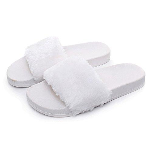 BELLOO - Zapatillas de estar por casa para mujer blanco