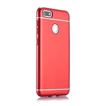 cc4db1fc66d45 Funda® Firmness Smartphone Funda Carcasa Case Cover Caso para Huawei Y6 Pro (2017) Huawei P9 Lite Mini Huawei Enjoy 7(Rojo)  Amazon.es  Electrónica