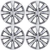 "BDK KT-1042- amking1 Silver Hubcaps Wheel Covers for Toyota Corolla 16"" - Four (4) Pieces Corrosion-Free & Sturdy - Full Heat & Impact Resistant Grade - Replacement, 4 Pack"