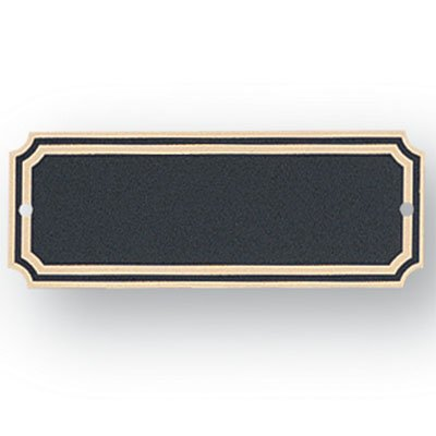 Black Perpetual Plaque - 1-1/2 X 4 Inch Perpetual Plaque Plates Black Screened Brass - Package of 12