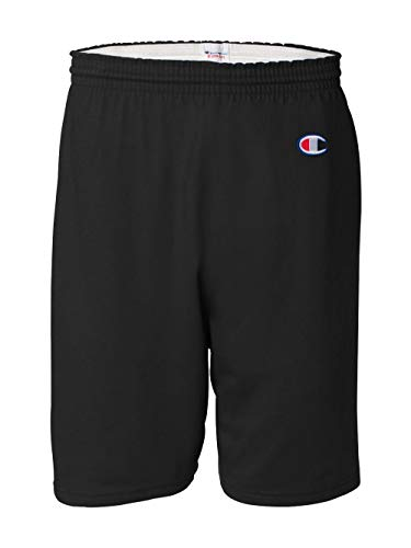 Champion Men's  6-Inch Black   Cotton Jersey Shorts - Medium by Champion