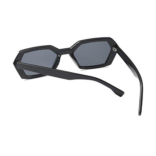 Square Gafas sol Polígono Green Gafas Fashion Negro de Vintage sol Yefree UV400 Summer de Leopard Brillante Frame Mujeres de Goggle OAqPCvw