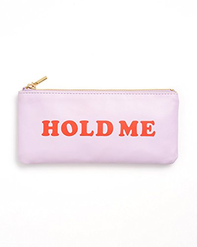 ban.do Women's Get it Together Leatherette Toiletry Travel Bag Pencil Pouch with Zip Close, Hold Me