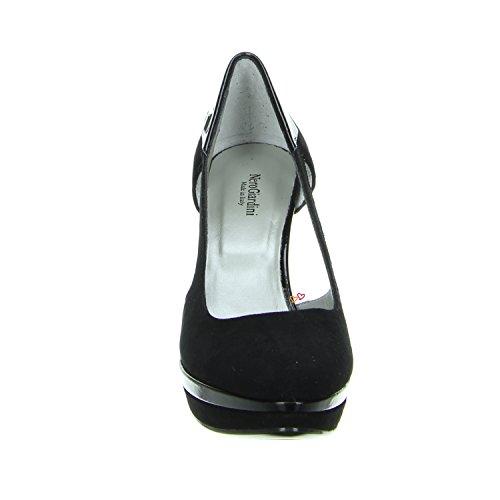schwarz Damenpumps Nero Giardini Lack Velourleder P410262DE Schwarz EqR7t
