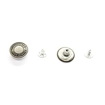 81592b7e2 8 x 17mm Gun Metal Jean Stud Buttons  quot Guaranteed High Quality quot   for Leather