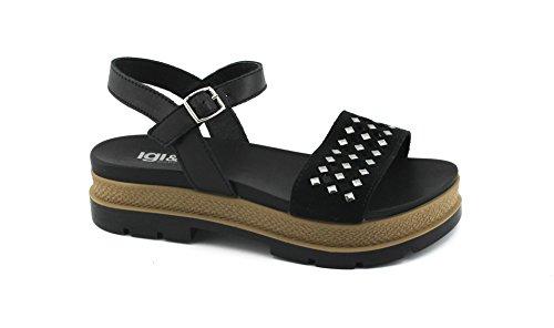 Zapatos de Correa Cuero de amp;Co Extremo Pernos Negro 1174900 IGI Nero Los Sandalias Mujer La prisioneros de ZgWTnqYO