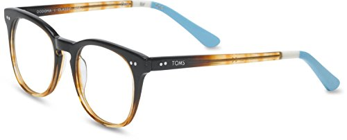 Toms Unisex-Adult Dodoma Rx Frames, Size: O/S, Color: Brown Crystal Fade/Light Blue (Crystal Blue Fade Frame)