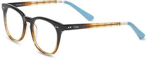 Toms Unisex-Adult Dodoma Rx Frames, Size: O/S, Color: Brown Crystal Fade/Light Blue (Crystal Blue Fade Frame)