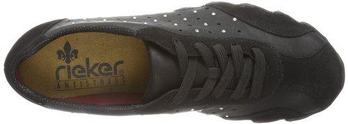 49027 Noir 00 Sneakers Schwarz Rieker femme Schwarz RZxOq88w