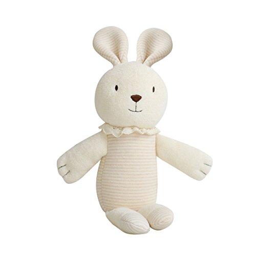 ([Organic Shop] 100% Organic Cotton Baby Stuffed Animal Rabbit Doll)
