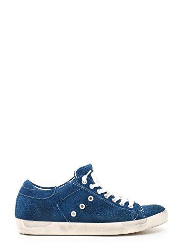Leather Crown Zapatillas Para Hombre Azul Azul It - Marke Größe