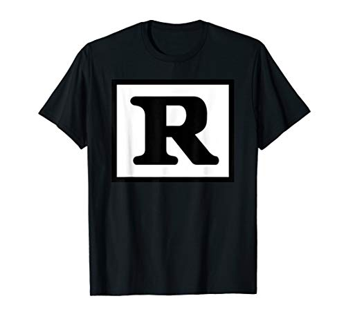 Advisory Mens T-shirt - Rated R Restricted T Shirt